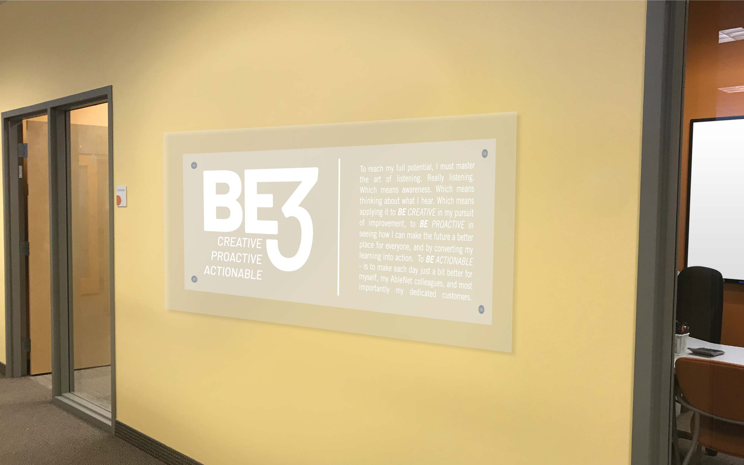 BE3 Wall Sign Application